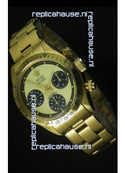 Rolex Daytona 6263 Cosmograph Gilt Gold Dial in Gold Case