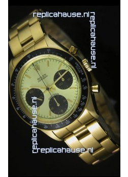 Rolex Daytona 6263 Cosmograph Metallic Dial in Gold Case