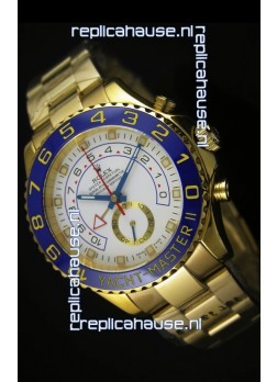 Rolex Yachtmaster II Yellow Gold  - 1:1 Ultimate Replica (Working Stopwatch)