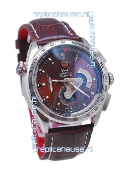 Tag Heuer Grand Carrera Calibre 36 Japanese Automatic Watch in Brown Face