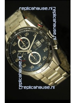 Tag Heuer Carrera Calibre 1887 Black Dial Watch - 1:1 Mirror Replica