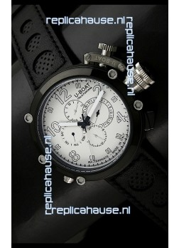 U-Boat Flightdeck Rattrapante Japanese Automatic Watch in PVD Casing