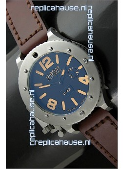 U Boat U-42 Diver Titanium Swiss Watch in Orange Markers