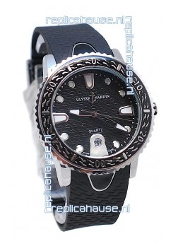 Ulysse Nardin Lady Diver Starry Night Replica Watch in Black Dial