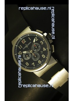 Ulysse Nardin Marine Chronograph Stainless Steel Black Arabic Dial - 1:1 Mirror Replica