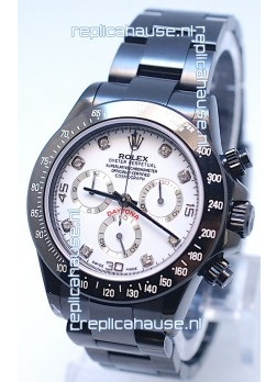 Rolex Cosmograph Project X Editions Black Out Daytona Swiss Replica Watch in Diamond Markers