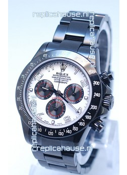Rolex Cosmograph Project X Editions Black Out Daytona Swiss Replica Watch in Silver Dial