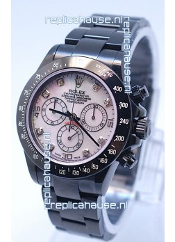 Rolex Daytona Cosmograph Project X Design Black Out Edition Series II Swiss Watch in Pink Pearl Dial