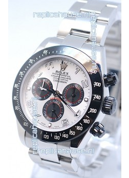 Rolex Project X Daytona Limited Edition Series II Cosmograph MonoBloc Cerachrom Swiss Watch in White Face