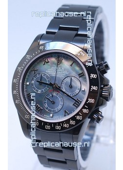 Rolex Daytona Cosmograph Project X Design Black Out Edition Series II Swiss Watch in Blue Pearl Dial