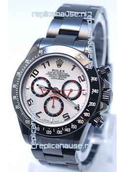 Rolex Cosmograph Project X Editions Black Out Daytona Swiss Replica Watch in White Dial