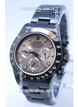 Rolex Daytona Cosmograph Project X Design Black Out Edition Series II Swiss Watch in Grey Opaline Dial