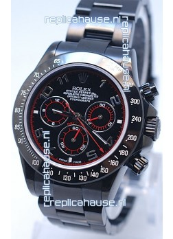 Rolex Cosmograph Project X Editions Black Out Daytona Swiss Replica Watch in Black Dial