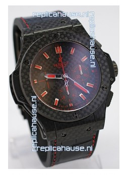 Hublot Big Bang All Carbon Swiss Replica Watch in Red
