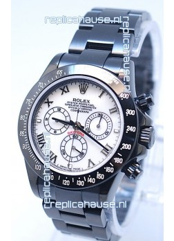 Rolex Daytona Cosmograph Project X Design Black Out Edition Swiss Watch in Pearl Dial