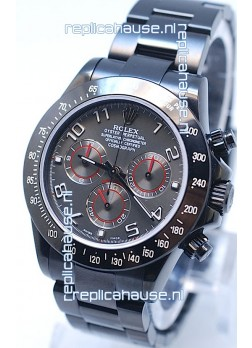 Rolex Cosmograph Project X Editions Black Out Daytona Swiss Replica Watch in Grey Dial