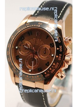 Rolex Daytona Monobloc Cerachrome Everose Swiss Watch - 1:1 Mirror Replica