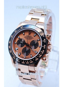 Rolex Daytona Chronograph MonoBloc Cerachrom Bezel Swiss Replica Watch in Rose Gold Plated