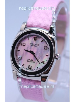 Rolex Cellini Cestello Ladies Swiss Pink Watch in Pearl Face