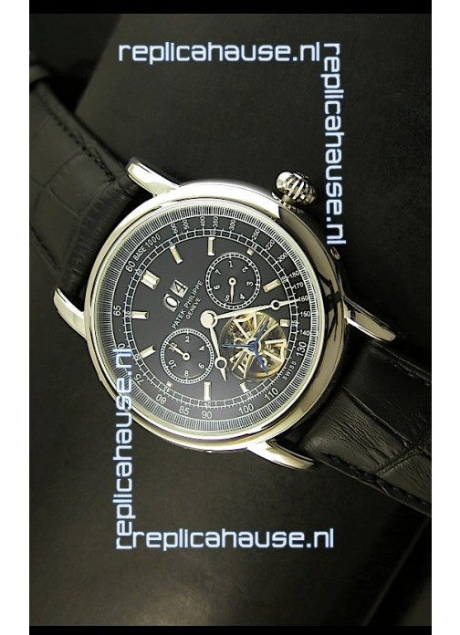 108c29c7d75 Patek Philippe Complications Tourbillon Japanese Replica Watch in Steel