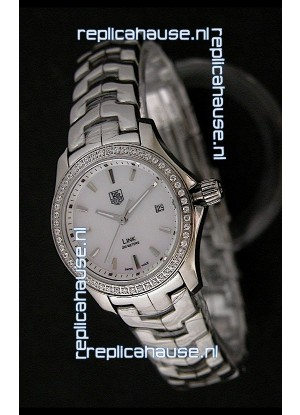 Tag Heuer Link Swiss Ladies Watch in Mother of Pearl White Dial