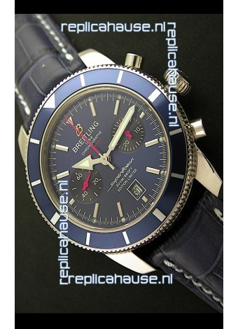 Breiting Superocean 2010 HeritageSwiss Chronograph Watch in Blue