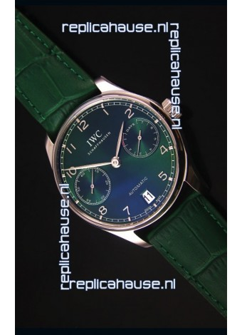 IWC Portugieser Swiss 1:1 Mirror Replica Watch Green Dial Steel Case Watch