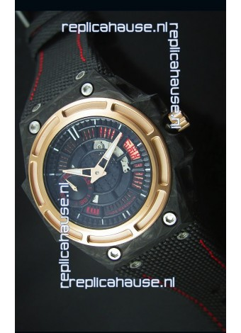 Linde Werdelin Spidolite II Swiss Replica Watch in Forged Carbon Case