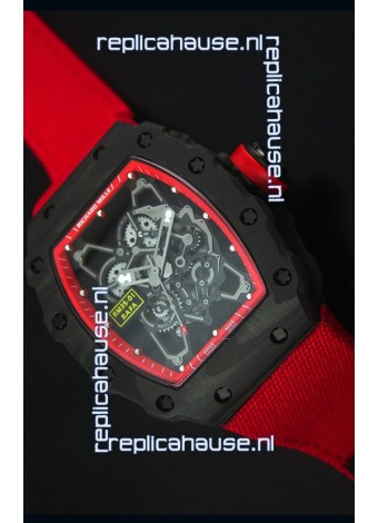 Richard Mille RM35-01 Rafael Nadal Edition Swiss Replica Watch Red Nylon Strap