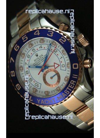 Rolex Yachtmaster II Two Tone Pink Gold - 1:1 Replica (Working Stopwatch)