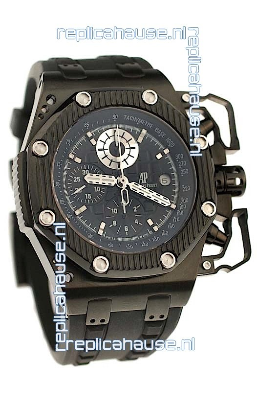 Audemars piguet royal oak offshore survivor swiss chronograph watch in black for just 549 usd for Royal oak offshore survivor