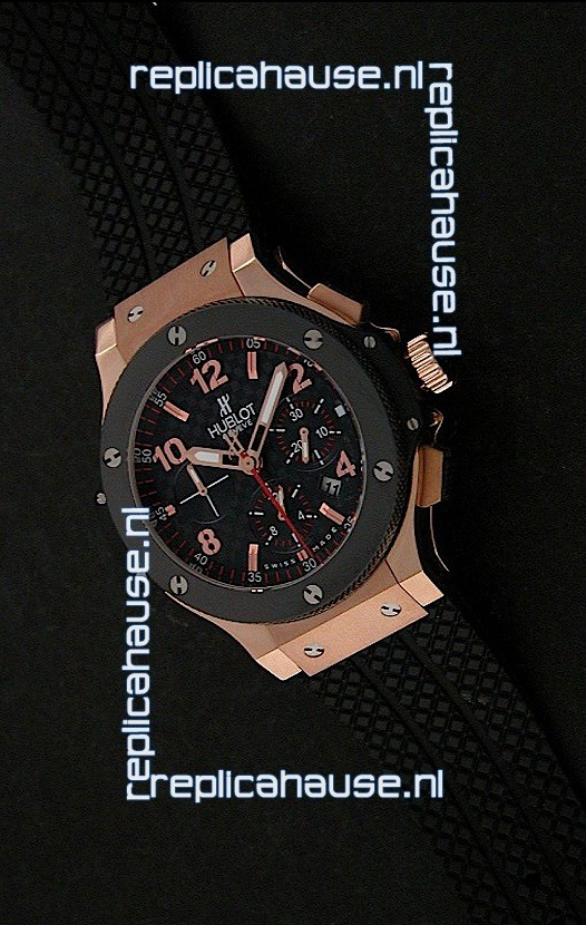 Hublot Big Bang Limited Edition Swiss Red Gold Watch With