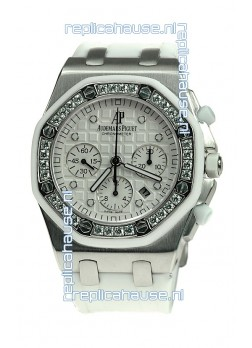 Audemars Piguet Royal Oak Offshore Lady Alinghi Limited Edition Swiss Diamond Watch in White Dial