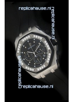 Audemars Piguet Royal Oak Offshore Lady Alinghi Swiss Watch in Black Dial