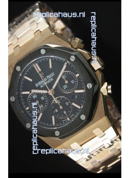 Audemars Piguet Royal Oak Rose Gold in Black Textured Ceramic Dial - 1:1 Mirror Replica