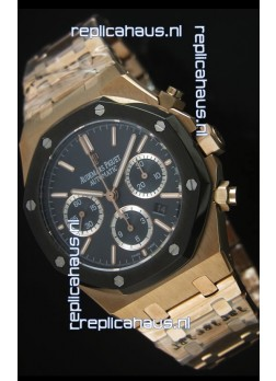 Audemars Piguet Royal Oak Rose Gold in Blue Ceramic Dial - 1:1 Mirror Replica