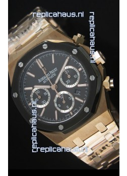 Audemars Piguet Royal Oak Rose Gold in Black Ceramic Dial - 1:1 Mirror Replica