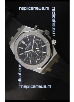 Audemars Piguet Royal Oak Chronograph Watch in Stainless Steel Case Black Dial