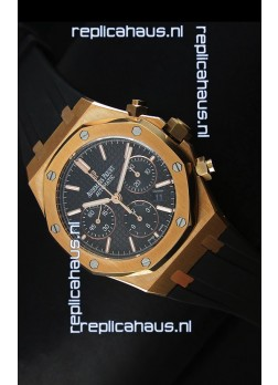Audemars Piguet Royal Oak Chronograph Watch in Yellow Gold in Black Dial