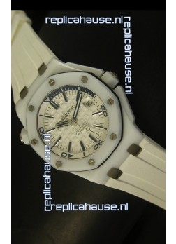 Audemars Piguet Royal Oak Diver White Ceramic - 1:1 Mirror Replica Watch
