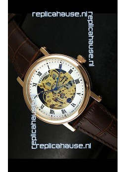 Breguet Classique Japanese Automatic Watch in Gold Skeleton Dial - Roman Hour Numerals