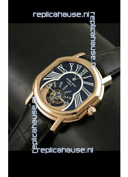 Daniel Roth Classic Tourbillon Swiss Watch in Black Strap