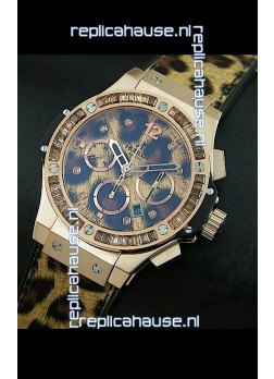 Hublot Big Bang Leopard Rose Gold Swiss Replica Watch
