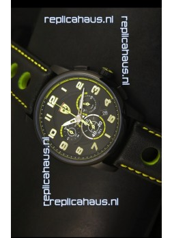 Scuderia Ferrari Heritage Chronograph Watch in Black Steel