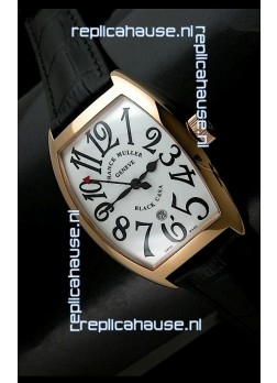 Franck Muller Black Casa in Japanese Replica Watch White Dial