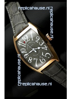 Franck Muller Black Casa Japanese Replica Watch in Grey Dial