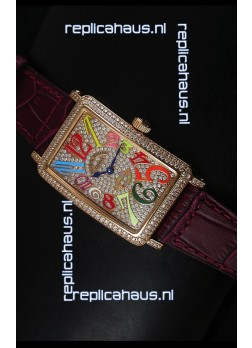 Franck Muller Master of Complications Long Island Ladies Watch in Pink Gold