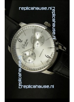 Glashuette Senator Japanese Replica Watch in Steel Dial