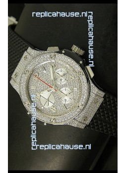 Hublot Big Bang Bling Edition Swiss Replica Watch - Titanium Case