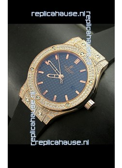 Hublot Big Bang Classic Fusion Swiss Watch in Diamonds Embedded Case